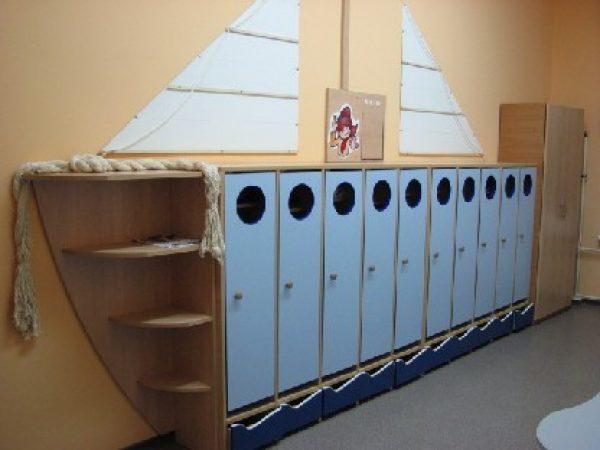 Раздевалка Парусник. Мебель для детского сада в Калининграде
