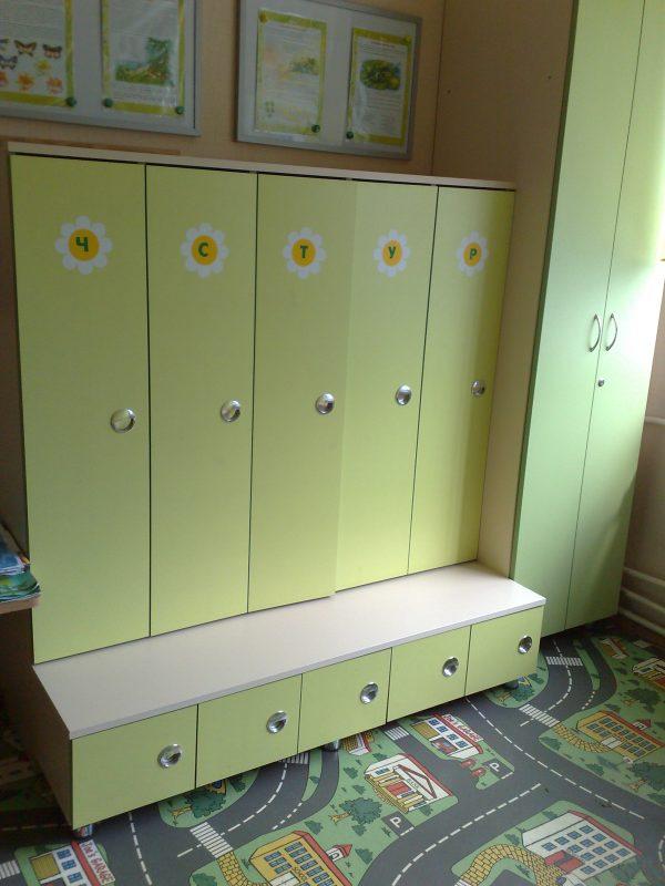 Шкаф для одежды с тумбой под обувь для детского сада в Калининграде