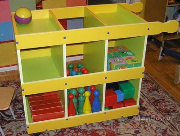Тумба для игрушек. Мебель для детского сада в Калининграде