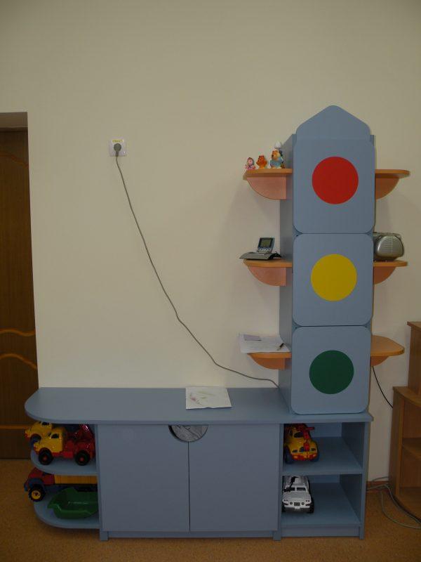Стеллаж для игрушек прямой. Мебель для детского сада в Калининграде