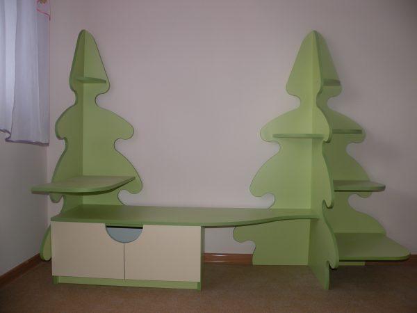 Стеллаж Ёлка для детского сада в Калининграде