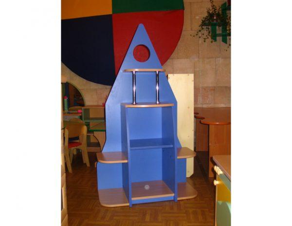 Стеллаж Ракета. Мебель для детского сада в Калининграде