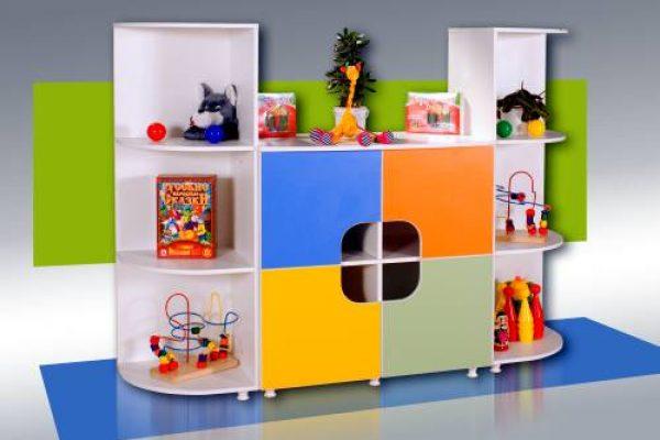 Стеллаж для игрушек и пособий. Мебель для детского сада в Калининграде