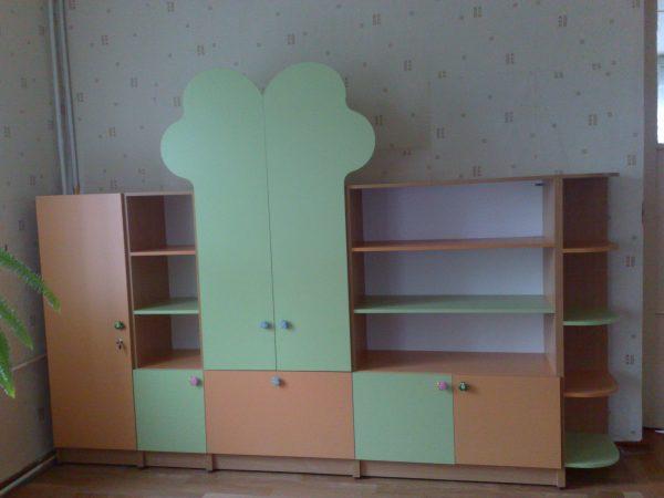 Стенка для игрушек. Мебель для детского сада в Калининграде