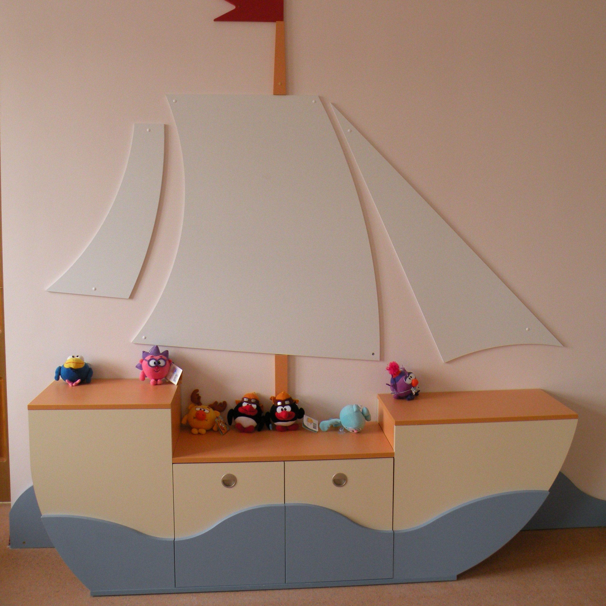 Стенка для детского сада Парусник
